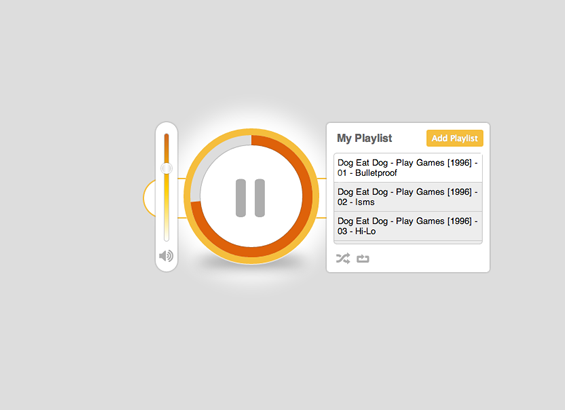 html5-css3-round-music-player